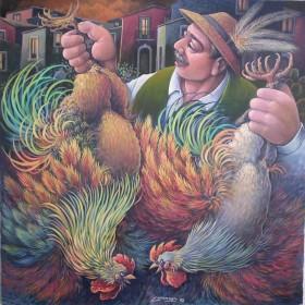 Polli al mercato